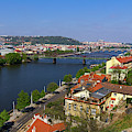 Prague Bridges Over Vltava by Les Palenik