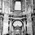 Prayer Time At Saint Peter's Basilica In Vatican City by John Rizzuto