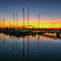 Pre-dawn Marina Colors by Tom Claud