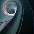 Pretty Blue Spiral Staircase by Jaroslaw Blaminsky