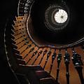 Pretty Brown Spiral Staircase by Jaroslaw Blaminsky