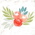 Pretty Coral Roses - Art By Linda Woods by Linda Woods