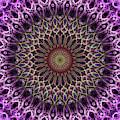 Pretty Mandala In Pink And Cream Tones by Jaroslaw Blaminsky
