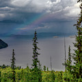 Priest Lake Rainbow by Leland D Howard