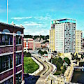 Providence Ri - View From Waterplace Park II by Susan Savad