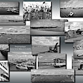 Provincetown Cape Cod Massachusetts Collage Bw 02 by Thomas Woolworth