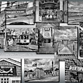 Provincetown Cape Cod Massachusetts Collage Pa Bw by Thomas Woolworth