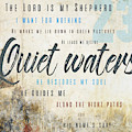 Psalm 23 Quiet Waters by Claire Tingen