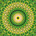 Psychedelic Kaleidoscope Abstract Pattern 12 by Artist Dot
