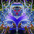 Psychedelic Sunflower Mandela by Paul W Faust - Impressions of Light