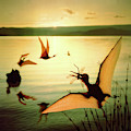 Pterosaurs At Lake Baringo by Warren Photographic