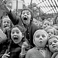 Puppet Audience by Alfred Eisenstaedt