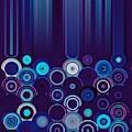 Purple And Blue Geometric Design by Rachel Hannah