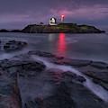 Purple Haze At Nubble Lighthouse by Jesse MacDonald