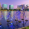 Purple Skies At Lake Eola - Orlando Florida by Gregory Ballos