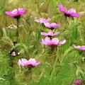 Purple Wild Flowers Field by David Dehner