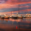 Quiet Evening On The Marina by Debra and Dave Vanderlaan