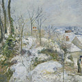 Rabbit Warren At Pontoise, Snow by Camille Pissarro