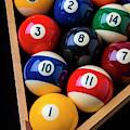 Racked Billiard Balls by Garry Gay