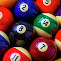 Racked Colorful Billiard Pool Balls by Garry Gay