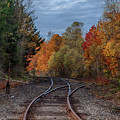 Railroad Journey Through The Fall Colors by Jeff Folger