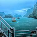 Rain Aboard Au Co Cruise Ha Long Bay  by Chuck Kuhn