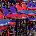 Rain On Paris Tables by Gary Karlsen