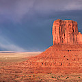 Rainbow Background In Monument Valley by Harriet Feagin