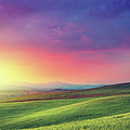 Rainbow Dawn In Tuscany by Mammuth