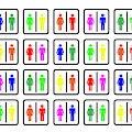 Rainbow Gender Men Women Study by Arielle Gabriel