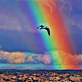 Rainbow Over Monterey Bay by Blake Richards