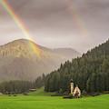 Rainbow Over St  Johann by James Billings