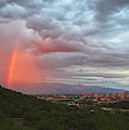 Rainbow Over Tucson Skyline by Chance Kafka