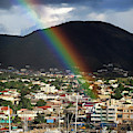 Rainbow Pot Of Gold At Basseterre, St. Kitts by Bill Swartwout Fine Art Photography