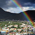 Rainbow Pot Of Gold In Basseterre, St. Kitts by Bill Swartwout Photography