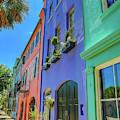 Rainbow Row Sidewalk by Dan Sproul