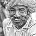 Rajput High School Teacher Bw by Steve Harrington