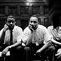 Ralph Abernathy And Martin Luther King by Paul Schutzer