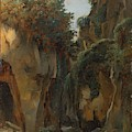 Ravine At Sorrento  by Edouard Bertin