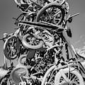 Razorback Greenway Bike Tower Statue - Northwest Arkansas Monochrome by Gregory Ballos