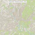 Reading Pennsylvania Us City Street Map by Frank Ramspott