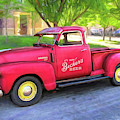 Red 1950 Chevy 3100 Pickup by David King