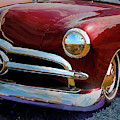 Red 1950 Ford Traditional Custom by David King