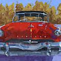 Red 1954 Lincoln Capri by David King