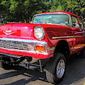 Red 1956 Chevy Gasser by David King