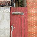 Red Alley Door Chinatown Washington Dc by Edward Fielding