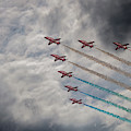 Red Arrows In The Sky by Scott Lyons