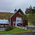 Red Barn In Pomfret Vermont by Jeff Folger
