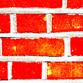 Red Brick Wall by Artist Dot