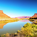 Red Cliffs Canyon Panoramic by David Morefield
